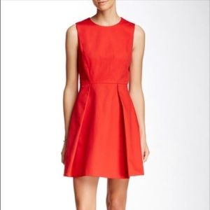 NWOT Kate Spade Saturday Red Pleated Flare Dress